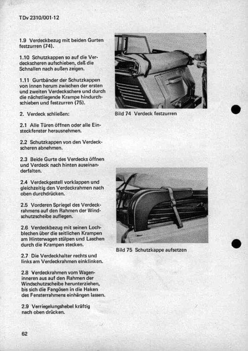 VW Kübel 181 Verdeck zusammenlegen Schritt 4